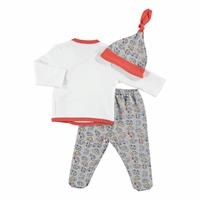 Colorful Cars Baby Boy Bodysuit Hat Footed Pants Set