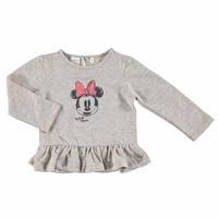 Kış Kız Bebek Minnie Mouse Lisanslı Eteği Fırfırlı Sweatshirt