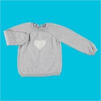 Winter Heart Patterned Baby Jumper