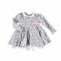 Baby Girl Combed Lined Petter Pan Collar Dress