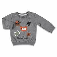 Fun Animals Printed Baby Boy Sweatshirt