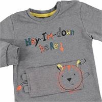 Hey Lion Baby Boy Long Sleeve Tshirt