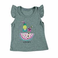 Kız Bebek Karpuz Kokteyl Baskılı Süprem Tshirt