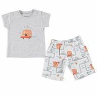 Trafik Baskılı Kısa Kol Bebek Pijama Takımı