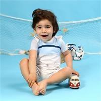 Baby Boy Little Fisher Short Sleeve Jumpsuit