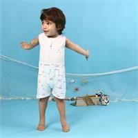 Erkek Bebek Minik Balıkçı Kolsuz Barbatöz