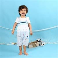 Erkek Bebek Minik Balıkçı T-Shirt Salopet Takım