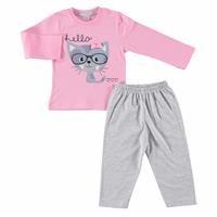 Bebek İnce Uzun Kollu Pijama Takımı