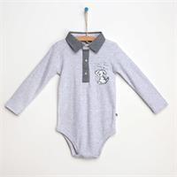 Baby Mini-Checkered Long Sleeve Polo Neck Shirt