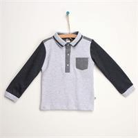 Baby Mini-Checkered Polo Neck Sweatshirt