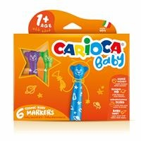 Teddy Jumbo Baby Washable Markers 6 pcs