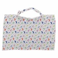 Butterfly Patterned Cotton Muslin Nursing Cover