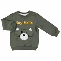 Cat Printed Baby Boy Sweatshirt