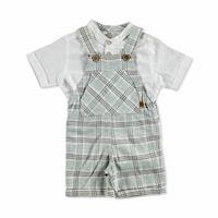 Bebek Ekose Büyük Salopet-Tshirt