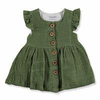 Summer Button Detail Baby Girl Cotton Dress