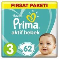 Active Baby Diapers Size 3 Midi Advantage Pack 6-10 kg 62 pcs