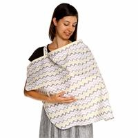 Zigzag Patterned Cotton Nursing Cover