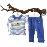 Fish Baby Polo Neck Sweatshirt Rin Trousers Set