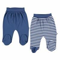 Camping Interlock Baby Footed Pants 2 pcs