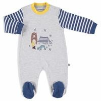 Camping Interlock Baby Footed Romper
