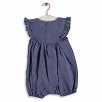 Baby Embroidered Denim Short Romper