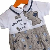 Elephant Printed Baby Boy Short Romper
