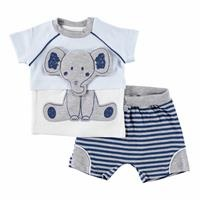 Elephant Printed Baby Boy Tshirt Short