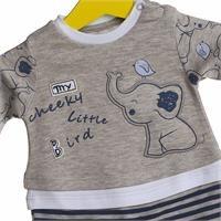 Elephant Printed Baby Boy Romper