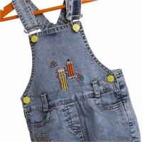 Embroidered Denim Shorts Dungareess