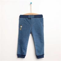 Baby Embroidered Denim Rib Single Pant