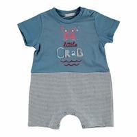 Summer Baby Boy Cram Clup Short Sleeve Jumpsuit