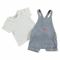 Summer Baby Boy Cram Clup Short Sleeve Dungarees T-shirt 2 pcs Set