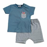 Summer Baby Boy Cram Clup Short Sleeve T-shirt Short 2 pcs Set