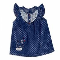 Summer Baby Girl Printed Lacy Cotton Dress