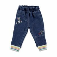 Unicorn Embroidered Cotton Baby Pants