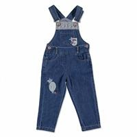 Lacy Detailed Cotton Baby Dungarees
