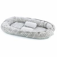 Mom & Dad Side Baby Mattress Gray Leaf