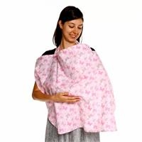 Butterfly Patterned Cotton Nursing Cover