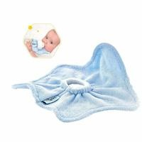 Drool and Spill Baby Bottle Bib Blue