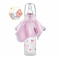 Drool and Spill Baby Bottle Bib Pink