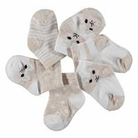 Baby Socks 6 Pack - Pink - Brown
