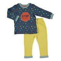 Stop Pollution Baby Boy Sweatshirt Trousers Set