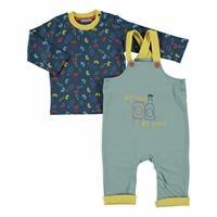 Erkek Bebek Geri Dönüşüm Salopet Sweatshirt 2Li Takım