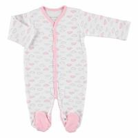 Cloud Baby Girl Footed Romper