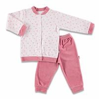 Crocodile Printed Baby Velvet Pyjamas Set