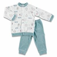 Flower Printed Velvet Baby Pyjamas Set