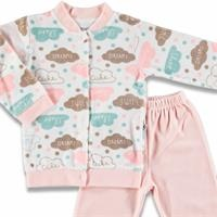 Clouds Printed Baby Velvet Pyjamas Set