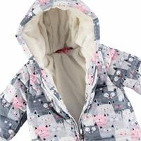 Baby Girl Fun Cats Water Repellent Coat