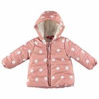 Polka-Dotted Water Repellent Baby Girl Coat