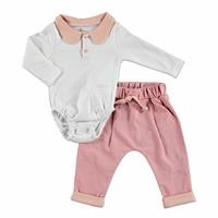 My Bunny Friend Petter Baby Pan Collar Bodysuit Footless Pants